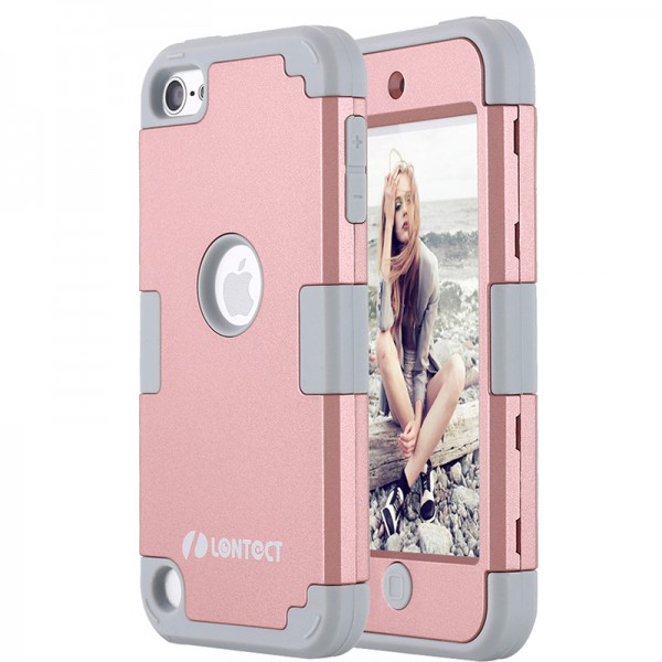 the latest a1115 e4228 LONTECT Apple iPod Touch 6 Case Hybrid Heavy Duty Shockproof Full ...